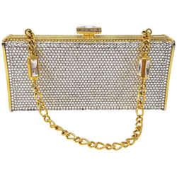 Judith Leiber Crystal Clutch Shoulder Bag
