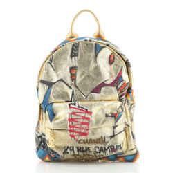 Paris-New York Street Spirit Backpack Graffiti Printed Canvas