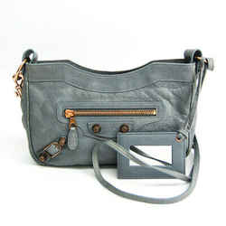 Balenciaga Giant Hip 237203 Women's Leather Shoulder Bag Light Gray BF513835