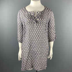 WEEKEND by MAX MARA Size 16 Multi-Color Ikat Ramie Tunic Dress