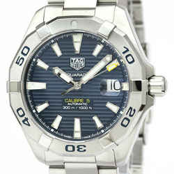 Polished TAG HEUER Aquaracer Calibre 5 Steel Automatic Watch WBD211 BF534121