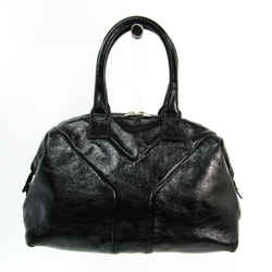 Yves Saint Laurent Easy 208315 Women's Patent Leather Handbag Black BF520478