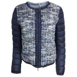 Moncler Blue Tweed Puffer Jacket