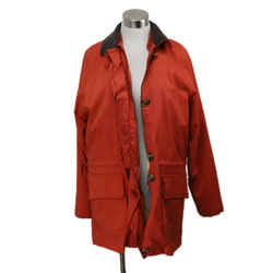 Loro Piana Orange Polyamide Coat Sz 8