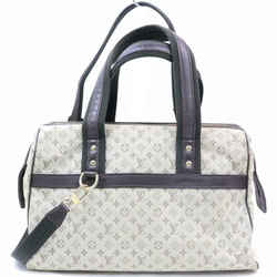 Louis Vuitton Navy Monogram Mini Lin Josephine Bandouliere Bowler with Strap 870302