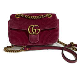 Mini Gg Marmont Velvet Shoulder Bag