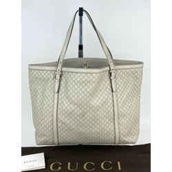 GUCCI Micro Guccissima Nice Grey Leather Tote Shoulder Bag B275