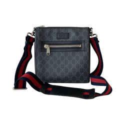 Gucci GG Leather Messenger Bag
