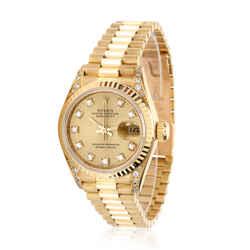 Rolex Datejust 69238 Women's Watch in 18kt Yellow Gold