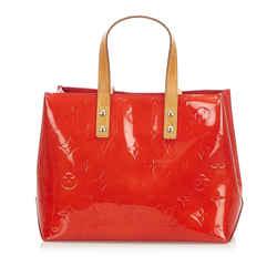 Vintage Authentic Louis Vuitton Red Vernis Reade PM France
