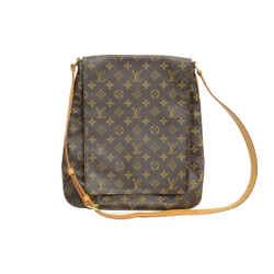 Authentic Louis Vuitton Monogram Leather Vintage Musette Salsa Fold Over Shoulder Bag