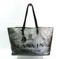 Lanvin Unisex Faux Leather,Leather Handbag Black,Metallic Bronze BF520864