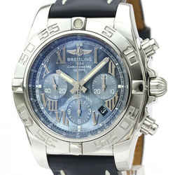 Polished BREITLING Chronomat 44 Japan LTD Blue MOP Dial Watch AB0110 BF530586