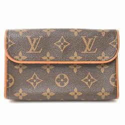 Auth Louis Vuitton Louis Vuitton Monogram Pochette Florantine Waist Pouch Brown