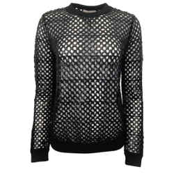 Tory Burch Lansing Mesh Sequin Black Sweater