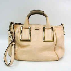 Chloe Ethel 3S0645 Women's Leather Handbag,Shoulder Bag Pink Cream BF523773