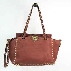 Valentino Garavani Rock Studs HWB00037 Women's Leather Handbag,Shoulder BF521070