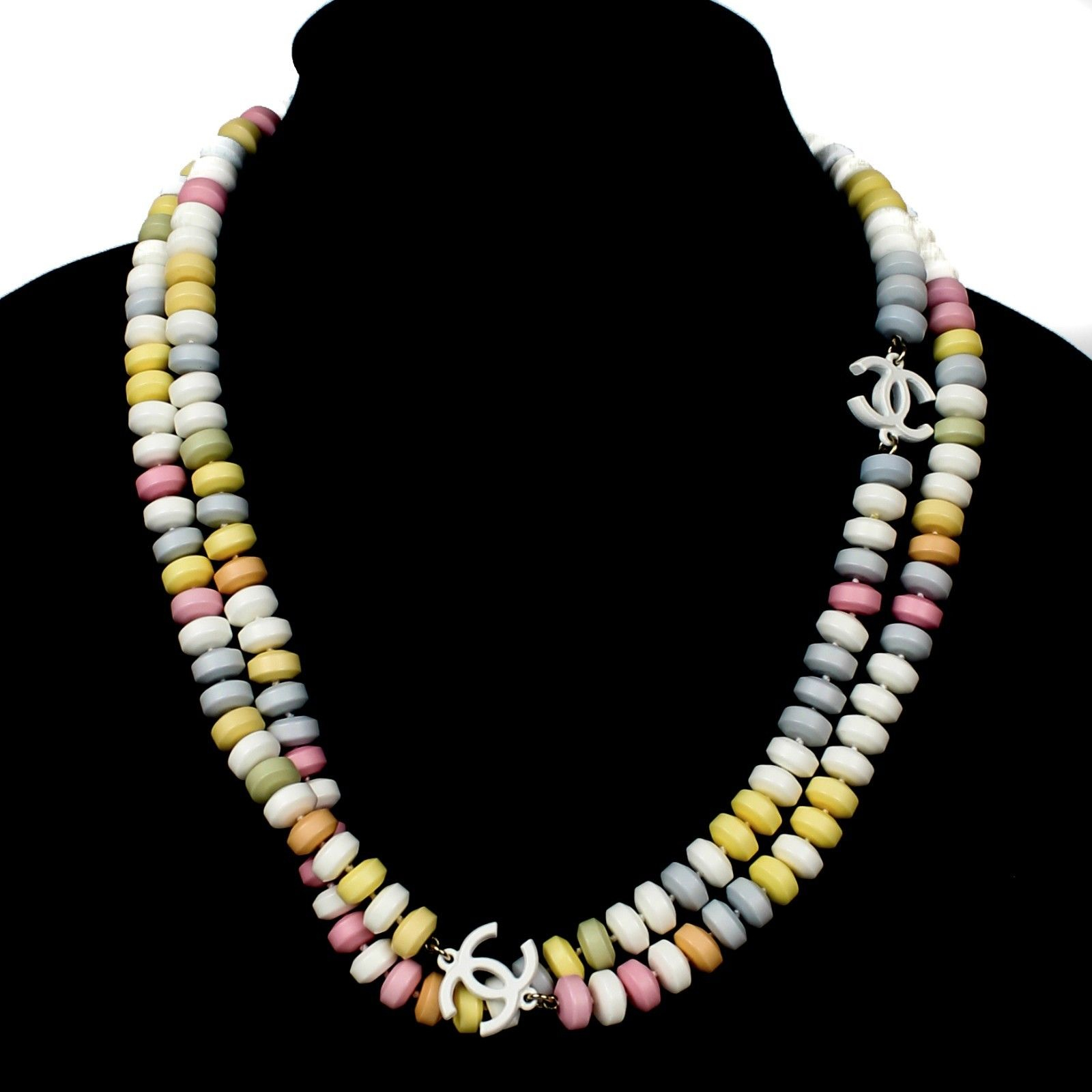 Multicoloured Blue Bead Rainbow Necklace Beach Other Bloggers Stories