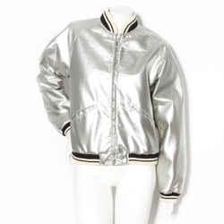Saint Laurent Paris Silver Teddy Bomber Jacket SS2014