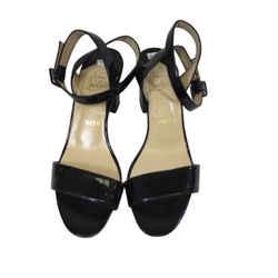 Christian Louboutin Patent Leather Short Stack Heel Sandal