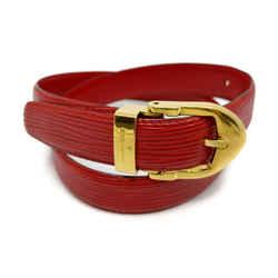 Louis Vuitton Red Epi Leather Ceinture Belt 863440