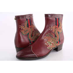 Gucci Leather Dragon Boots