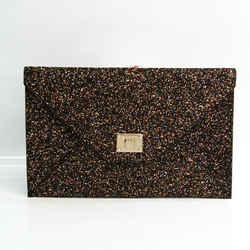 Jimmy Choo Women's PVC Clutch Bag Black,Gold,Orange BF533706