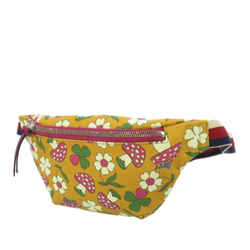 Yellow Gucci Childrens Mushroom Print PVC Belt Bag