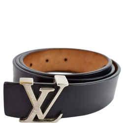 LOUIS VUITTON LV Initiales Leather Belt Black Size 85/34