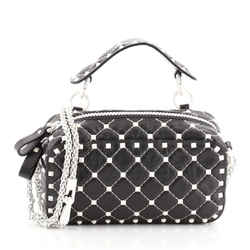 Free Rockstud Spike Camera Bag Quilted Leather Small