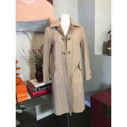 Fendi Tan Cashmere Open Front Coat 369-114-8820