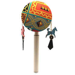 Hermes Multicolor Petit H Chinese Rattle Ocean Drum