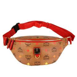 $625 Mcm Cognac Spectrum Stark Belt Bag In Skyoptic Visetos Muz9sfi26ca001