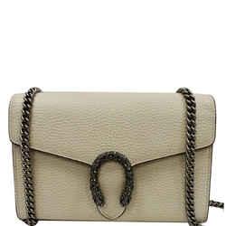 GUCCI  Dionysus Mini Leather Chain Shoulder Bag White 401231