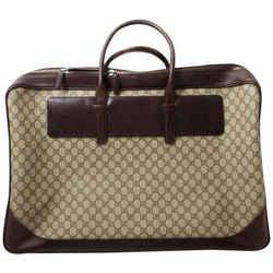 Gucci Large Monogram GG Supreme Suitcase Luggage Bag 861899