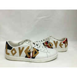 Gucci White Ace Loved Leather Trainer Sneakers Size: Eu 38 (approx. Us 8) Regular (m, B) Item #: 25733943