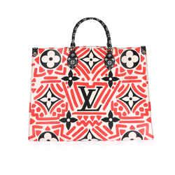 Louis Vuitton Cream & Red Monogram Giant LV Crafty Onthego GM