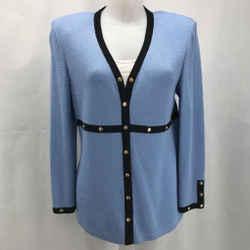 St John Blue Cardigan Sweater 8
