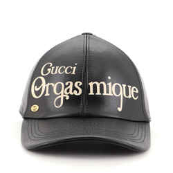 Orgasmique Baseball Cap Printed Leather Medium