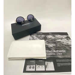 Chanel White Black & Round Limited Edition Iconic 1993 Sunglasses
