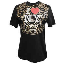Versace Black I Love New York Tee Shirt