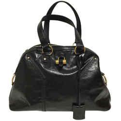 """Saint Laurent Muse Medium Black Patent Leather Shoulder Bag 11""""L x 16""""W x 5""""H Item #: 25576874"""