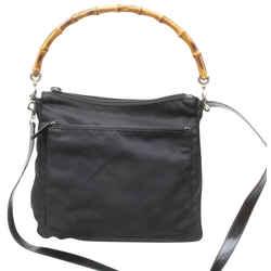 Gucci Black Bamboo Nylon Hobo  2way Bag 859311
