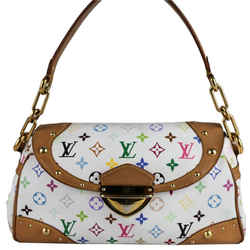 Louis Vuitton Beverly Mm Shoulder Bag White Leather Authenticity Guaranteed