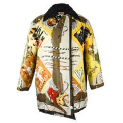 Hermes Jacket Le Carnavale De Venise Reversible Scarf Print 36 / Fits 4 To 6