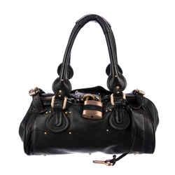 Chloe Black Leather Paddington Shoulder Bag