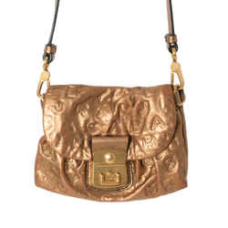 Marc By Marc Jacobs Embossed Metallic Leather Shoulder Bag