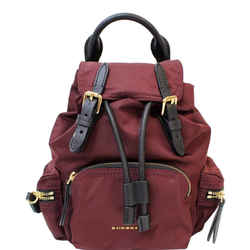 Burberry The Small Rucksack Nylon Backpack Red