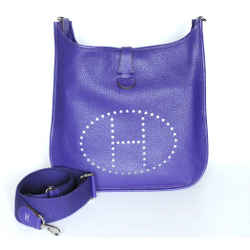 Hermes Purple Evelyne Iii Gm Shoulder Bag 2010 Entrupy