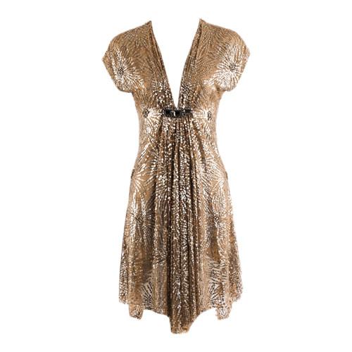 Beaded Sequin Silk Dress